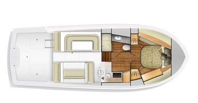 Viking 37 Billfisher Yacht Floorplan