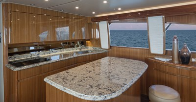Viking 55 Convertible Yacht Galley