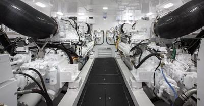 Viking 80 Convertible Engine Room