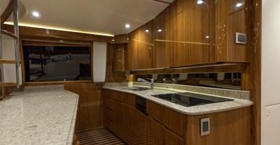 Viking 66 Enclosed Bridge Yacht Galley