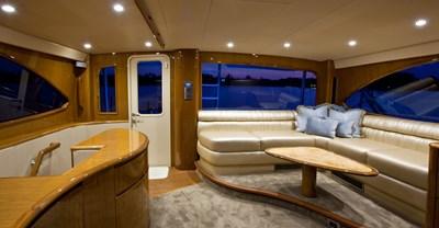 Viking 82 Enclosed Bridge Yacht Bridge Seating