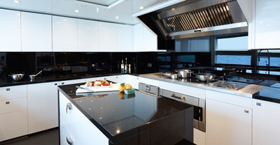 New Princess 40M Yacht Galley