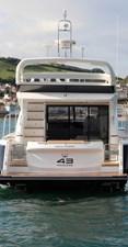 New Princess 43 Flybridge Yacht Aft Profile