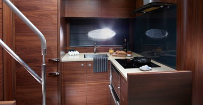 New Princess V48 Yacht Galley