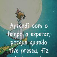 #aprendi #tempo #esperar Aprendi