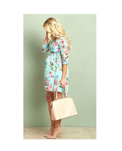 #dress #floral #maternity #chiffon Style Inspo - Floral Maternity Dress