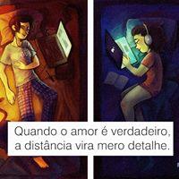 #quando #amor #verdadeiro #distancia #mero #detalhe Quando o amor
