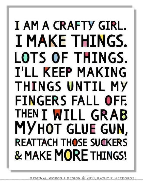 #crafty #girl #makes ;)