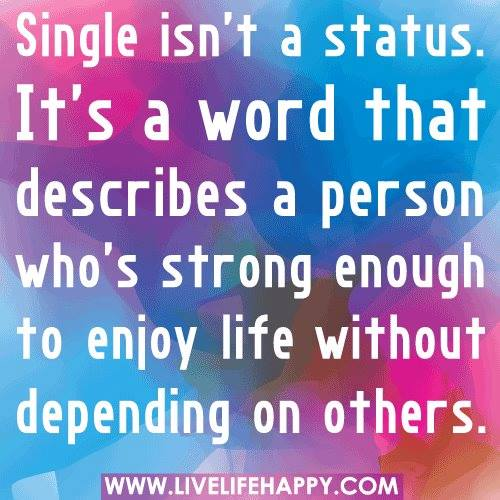 #single #person #strong Single
