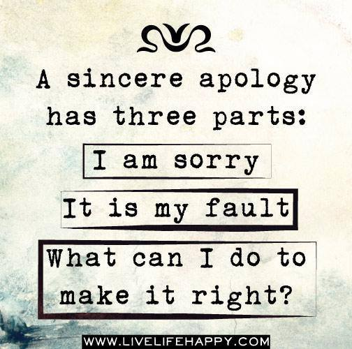 #apology #sorry #sincere Apology