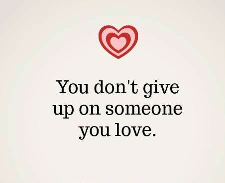 #nope #give-up #love Nope