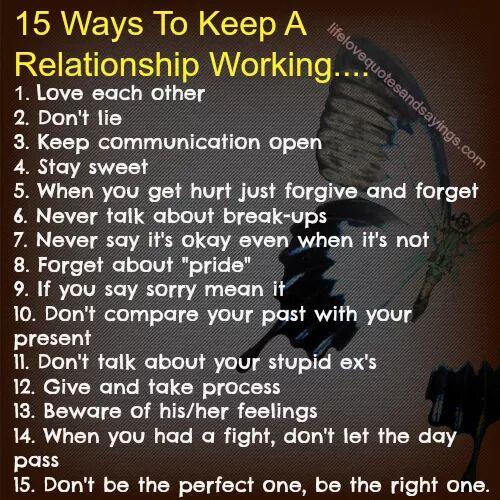 #ways #relationship #working 15 Ways to keep relationship working
