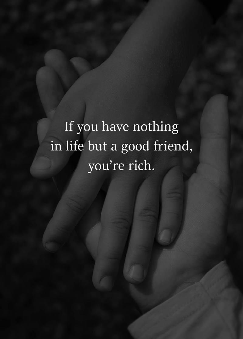 #rich #good #friend Rich people