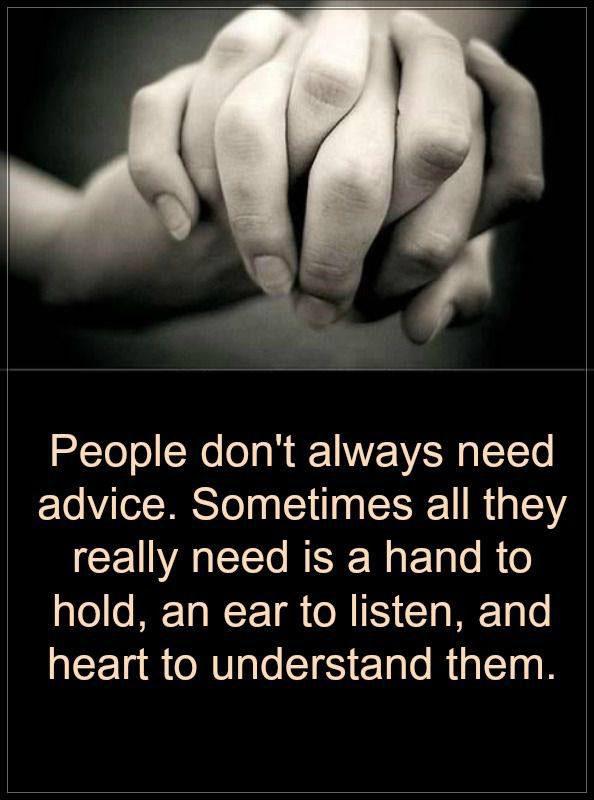 #hand #hodl #listen #understand Someone to understand you
