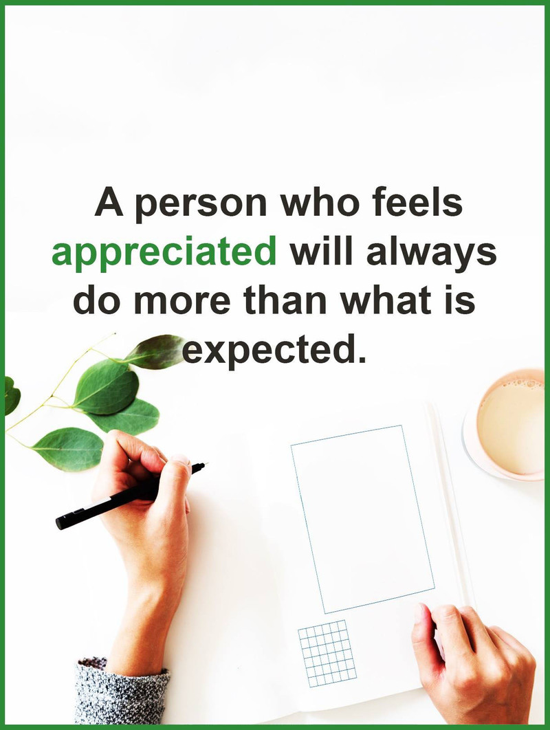 #appreciated #person #more #expected Appreciated