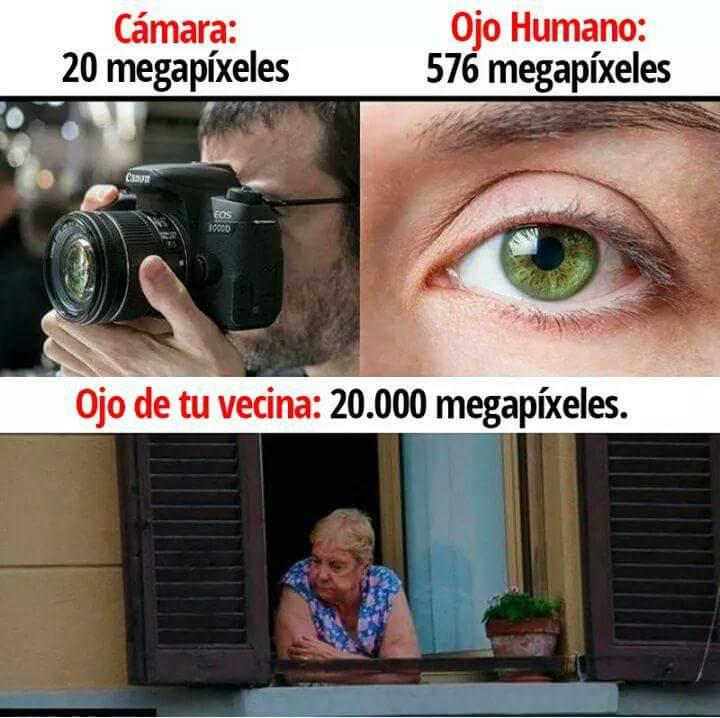 #Megapíxeles #vecina #humano Megapíxeles