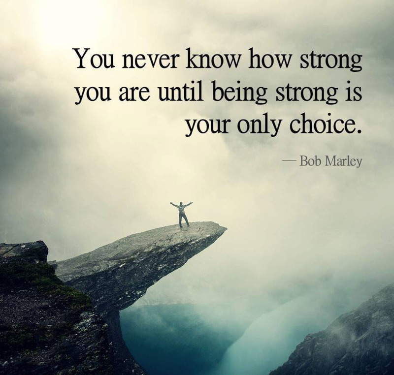 #strong #only #choice #ttc You never know how strong you are