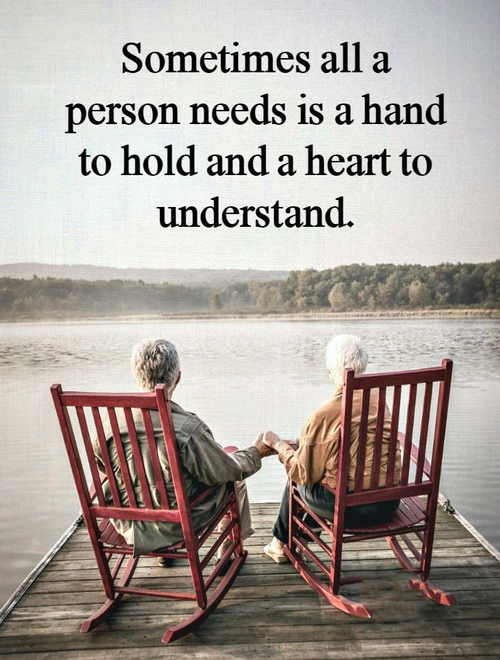 #all #that #person #needs #heart #understanding Sometimes all a person needs...