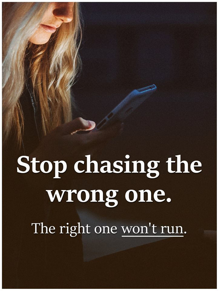 #Stop #chasing #wrong #one Stop chasing
