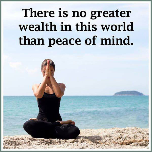 #great #wealth #peace #mind #world Peace of Mind