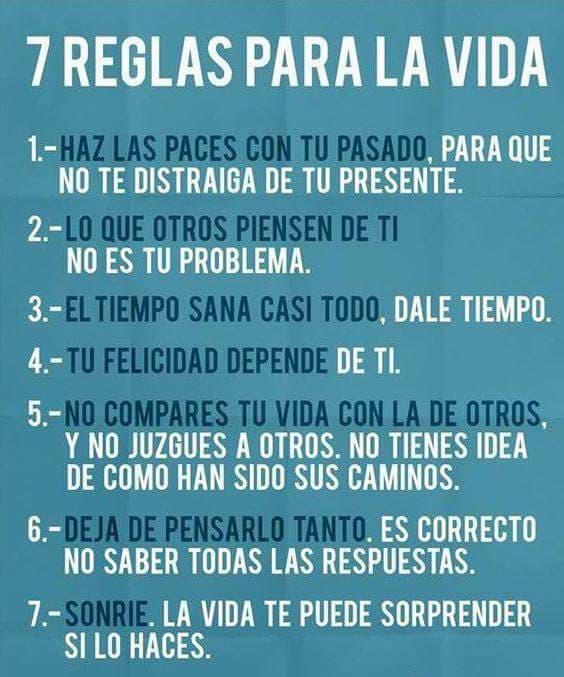 #Reglas #para #vida 7 Reglas para vida