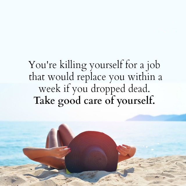 #Take #good #care #yourself Take good care of yourself.