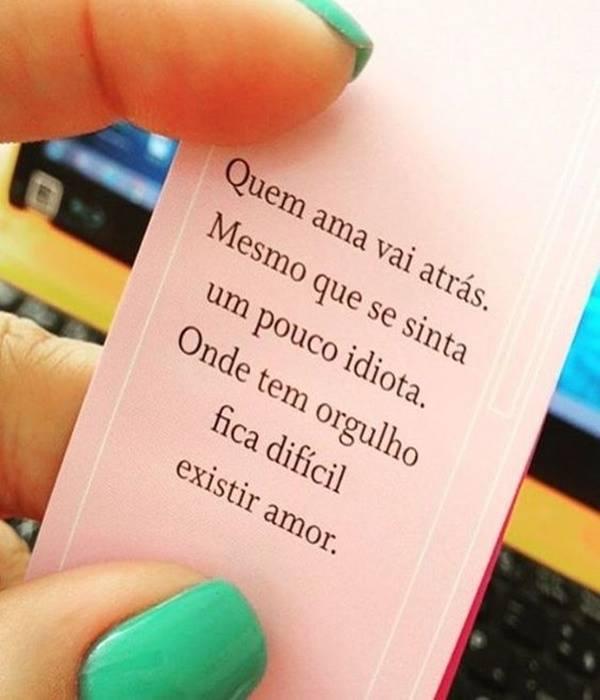 #Quem #ama #atrás Quem ama vai atrás.