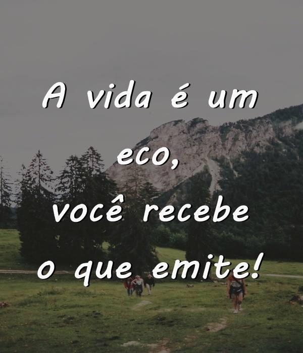 #vida #eco #recebe #emite A vida é um eco.