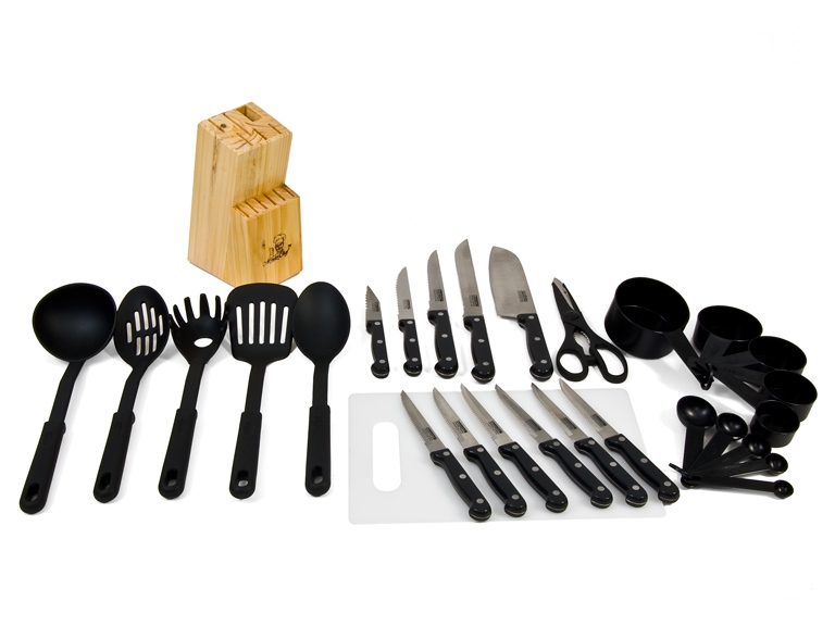Masterchef duracut 29 piece cutlery kitchen tools woot - Utensilios de chef ...