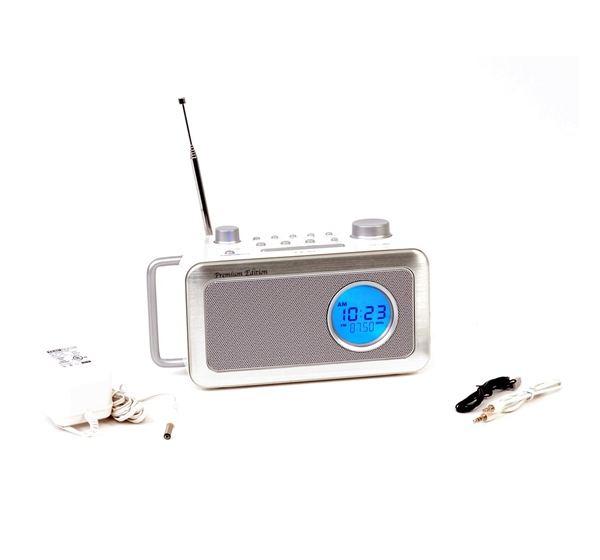 teac r2w white digital radio w dual alarm clock woot. Black Bedroom Furniture Sets. Home Design Ideas