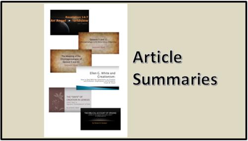 Creation-Origins Resources: Article Summaries