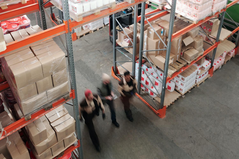 Building, Person, Warehouse, Box