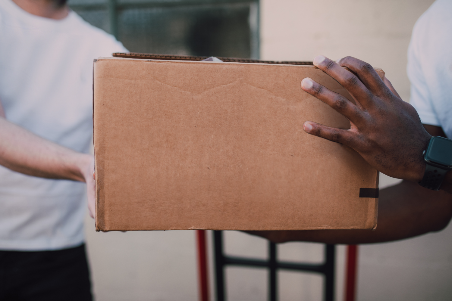 Person, Package Delivery, Cardboard, Carton, Box, Finger