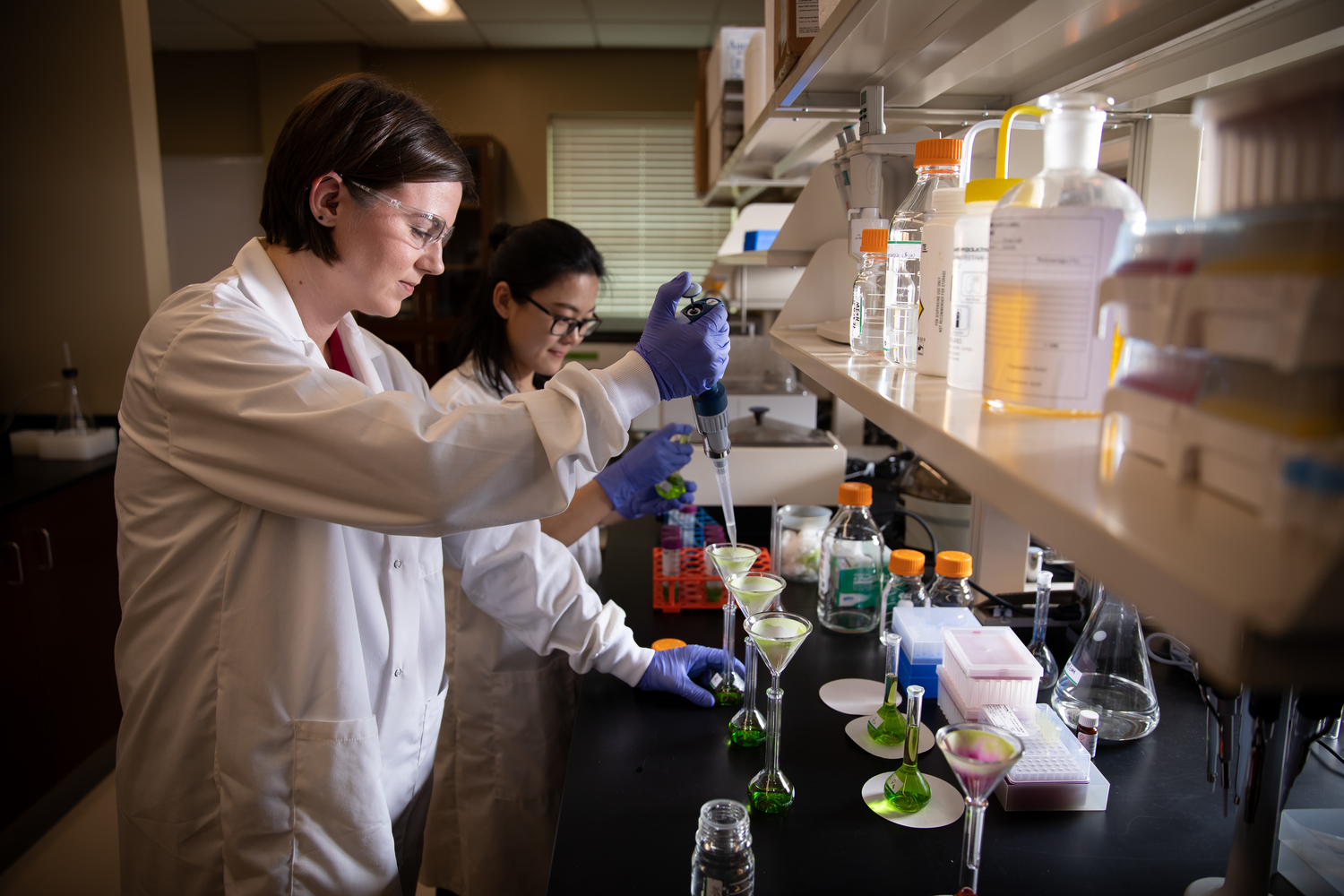 Women in lab doing research