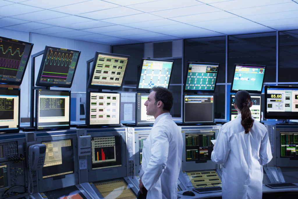 Person, Monitor, Display, Screen, Electronics, Clothing, Apparel, LCD Screen, Lab