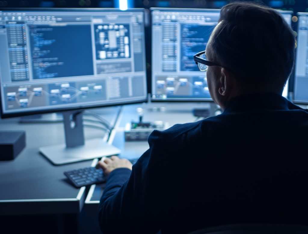 Person, Computer Keyboard, Computer, Electronics, Monitor, Screen, Furniture, Desk, Table, LCD Screen