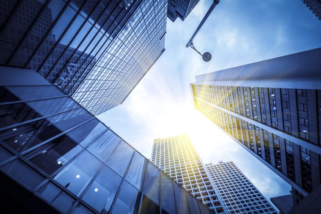 Office Building, Building, High Rise, City, Urban, Architecture, Window, Condo, Solar Panels, Skylight