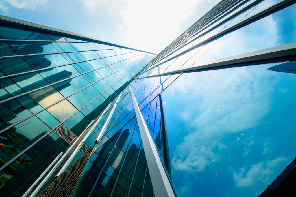 Office Building, Building, Urban, City, High Rise, Azure Sky, Nature, Outdoors, Sky, Architecture