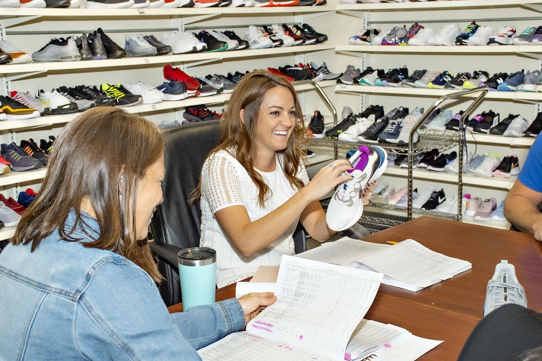 Apparel, Clothing, Person, Shop, Shoe, Footwear, Shoe Shop