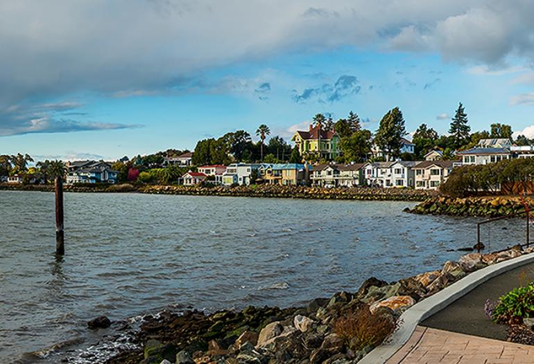 Building, Water, Outdoors, Nature, Waterfront, Shoreline, Boardwalk, Bridge, Sea, Coast