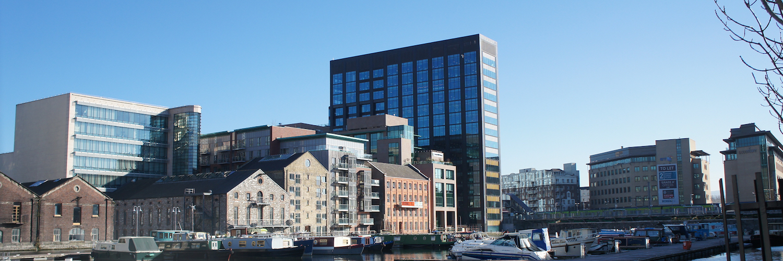 Building, Office Building, Watercraft, Water, Condo, Waterfront, Urban, City, Metropolis, High Rise