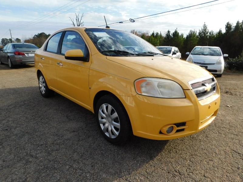 2009 Yellow Chevrolet Aveo East Wake Auto Sales