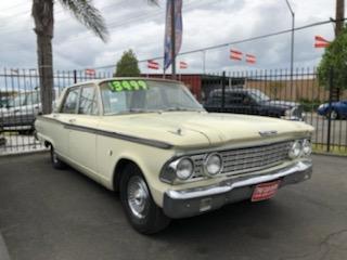1962 white Ford Fairlane 500 - The Car Barn