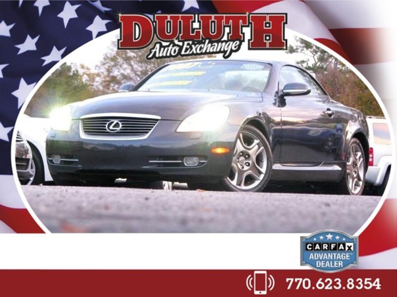 Duluth Car Dealerships >> 2007 Gray Lexus Sc 430 Duluth Auto Exchange