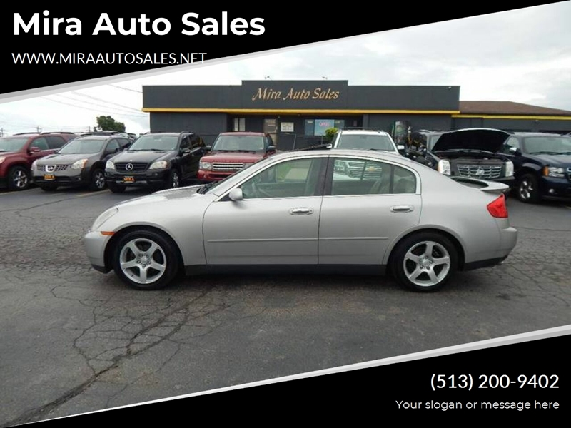 Mira Auto Sales >> 2003 Silver Infiniti G35 Over 200 Quality Pre Owned