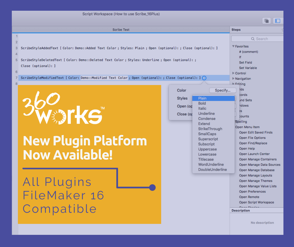 360Works New FileMaker 16 Plugins