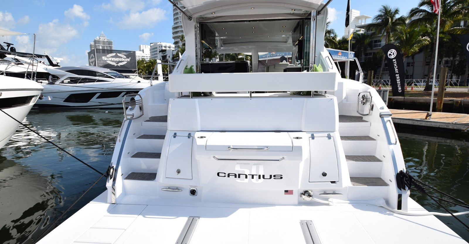 New Cruisers 50 Cantius Yacht Transom