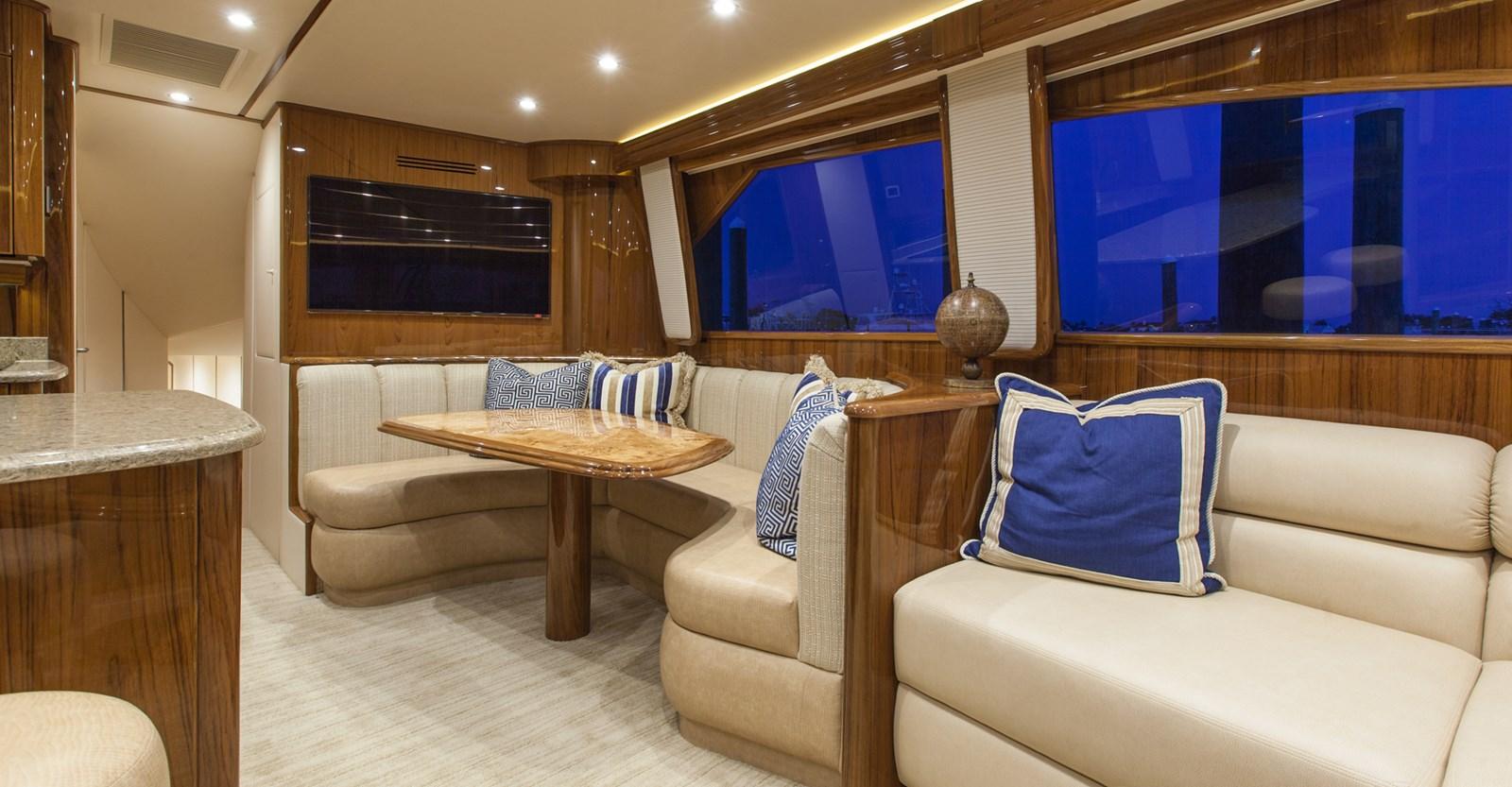 Viking 66 Enclosed Bridge Yacht Dinette View