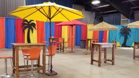 Image of a 9' Yellow Umbrella