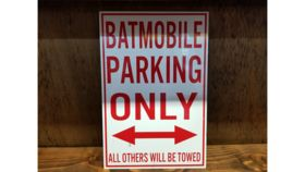 """Image of a """"Batmobile Parking Only"""" Sign"""